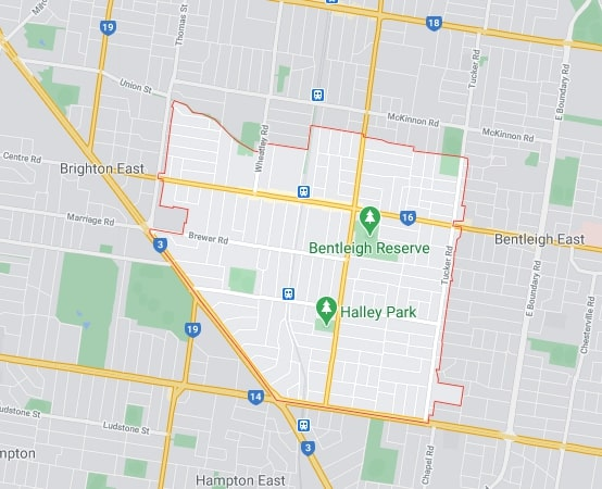 Bentleigh map area