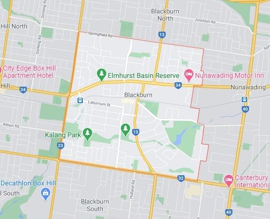 Blackburn map area