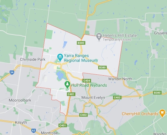Lilydale map area