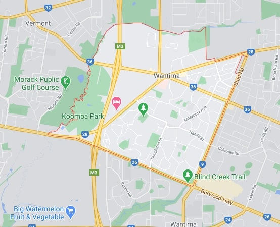Wantirna map area