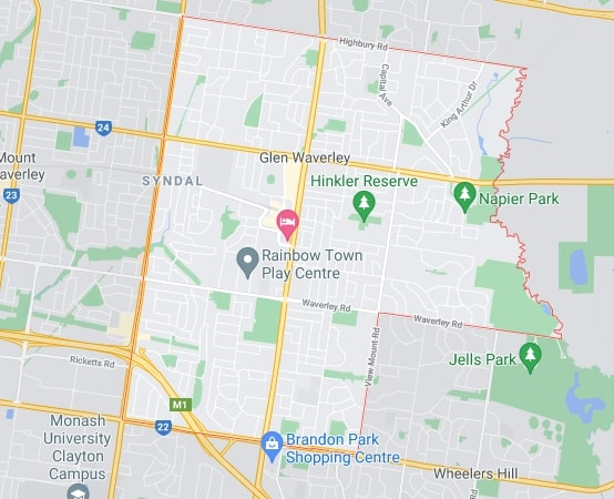 Glen Waverley map area