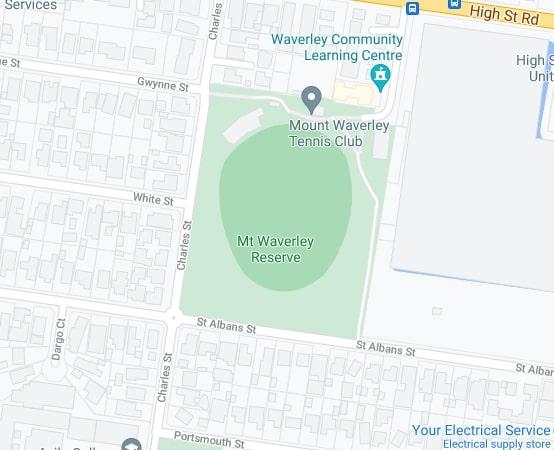 Mt Waverley map area